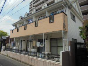 福岡市 西区 コビソル姪の浜 賃貸アパート 改修塗装工事 施工前