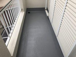 筑紫野市 O様邸 住宅 ベランダ 床 FRP防水工事 完了