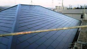 日本ペイント ファインパーフェクトベスト コロニアル屋根 塗装完了