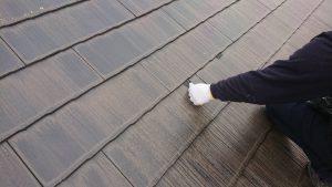 コロニアル屋根 セイム タスペーサー取付け 施工中