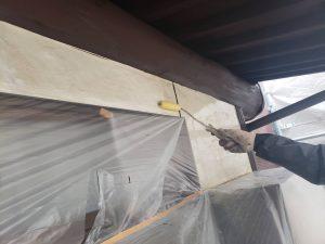 福岡県 粕屋郡 篠栗町 K様所有物件 外壁塗装作業 下塗り 日本ペイント仕様