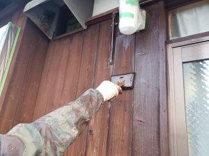 福岡県 粕屋郡 篠栗町 K様所有物件 和風 平屋 板壁 木部ステイン塗装 1回目