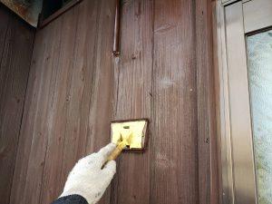 福岡県 粕屋郡 篠栗町 K様所有物件 和風 平屋 板壁 木部ステイン塗装 2回目