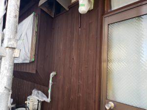 福岡県 粕屋郡 篠栗町 K様所有物件 和風 平屋 板壁 木部ステイン塗装 2回目 完了