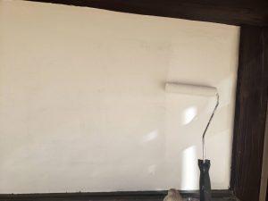 福岡県 粕屋郡 篠栗町 K様所有物件 外壁塗装作業 上塗り 日本ペイント仕様