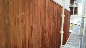 福岡県 粕屋郡 篠栗町 K様所有物件 N様邸 高圧洗浄作業 板壁 完了