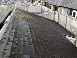 福岡市 早良区 N様邸 住宅塗装工事 コロニアル屋根 高圧洗浄 施工前