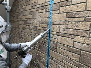 福岡市 早良区 N様邸 住宅塗装工事 サイディングボード シーリング打替え工事 シーリング材充填