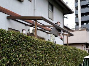 筑紫野市 G様邸 タキロン ポリカナミイタ 屋根 取替え 工事  施工前