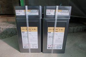 日本ペイント 遮熱塗料 サーモアイシーラー 下塗り 材料搬入