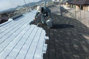 日本ペイント 遮熱塗料 サーモアイシーラー 下塗り 施工状況