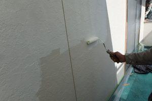 福岡市 早良区 N様邸 住宅塗装工事 外壁 遮熱塗装仕様 サーモアイシーラー 下塗り