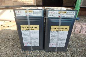 日本ペイント 遮熱塗料 太陽熱高反射4フッ化フッ素樹脂屋根用塗料  サーモアイ4F 高耐久仕様 材料搬入