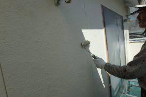 福岡市 早良区 N様邸 住宅塗装工事 外壁 遮熱塗装仕様 ファインサーモアイウォールSi 上塗り