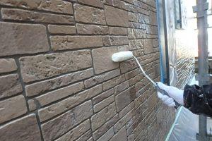 日本ペイント UVプロテクトクリア 1回目塗装作業