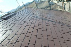 日本ペイント 遮熱塗料 太陽熱高反射4フッ化フッ素樹脂屋根用塗料  サーモアイ4F 高耐久仕様 上塗り1回目 完了