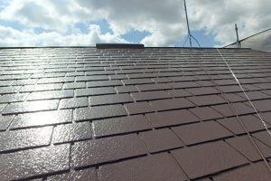日本ペイント 遮熱塗料 太陽熱高反射4フッ化フッ素樹脂屋根用塗料  サーモアイ4F 高耐久仕様 上塗り2回目 完了