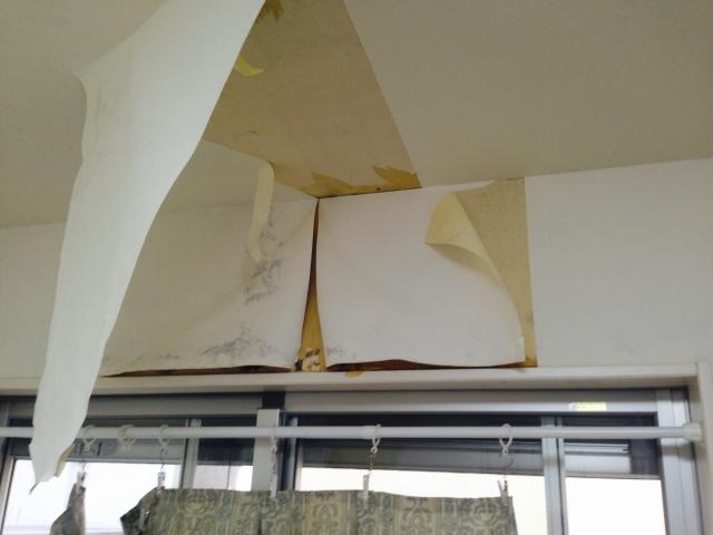 写真:雨漏りしている壁