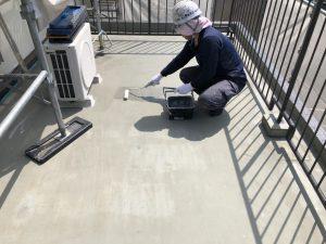 ウレタン塗膜防水 プライマー塗布 施工状況