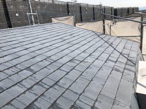 小郡市 コロニアル屋根 (スレート屋根) 塗装工事 施工前