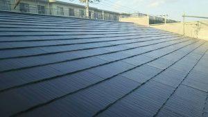 小郡市 コロニアル屋根 (スレート屋根) 塗装工事 ラジカル制御型高耐候性塗装仕上げ 完了