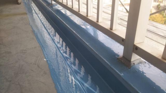 写真:防水加工しているベランダ
