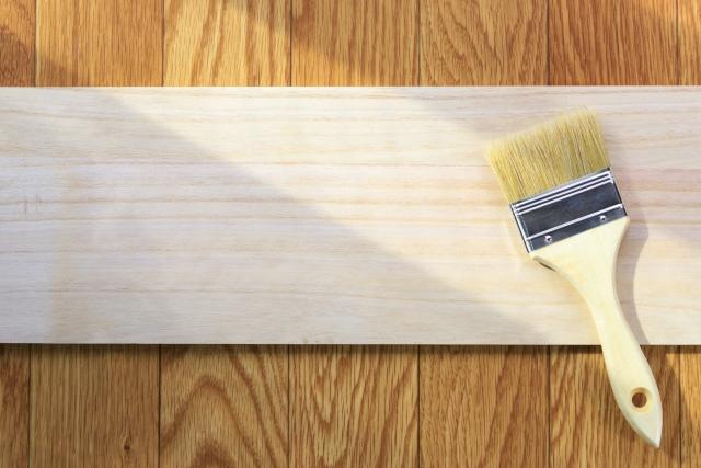 写真:板と刷毛