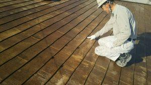 春日市オーナー I様所有物件 飯塚市 借家 屋根塗装工事 縁切り部材 タスペーサー取り付け