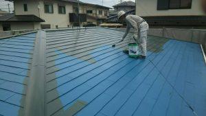 春日市オーナー I様所有物件 飯塚市 借家 屋根塗装工事 ファインパーフェクトベスト 2回目