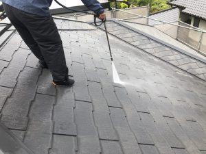 小郡市 屋根塗装工事 高圧洗浄作業 M様邸