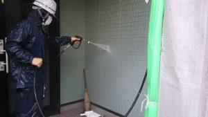 小郡市 外壁塗装工事 高圧洗浄作業 M様邸