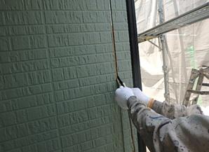小郡市 M様邸 外壁塗装工事 シーリング打ち替え 撤去作業