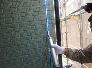 小郡市 M様邸 外壁塗装工事 シーリング打ち替え シール材充填