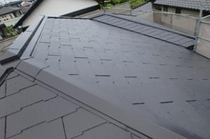 小郡市 M様邸 屋根塗装工事 サーモアイ4F 遮熱フッ素塗料 1回目 完了