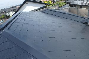 小郡市 M様邸 屋根塗装工事 サーモアイ4F 遮熱フッ素塗料 2回目 完了